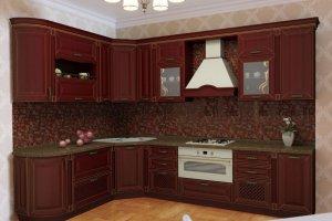 Кухня угловая Массив Дуба - Мебельная фабрика «Кредо»