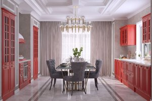 Кухня Venetta Italy красная - Мебельная фабрика «ViVakitchen»