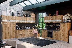 Кухонный гарнитур угловой Иллюзия - Мебельная фабрика «Энли»