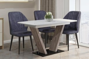 Кухонный стол Фантазия белый мрамор - Мебельная фабрика «А-Элита»