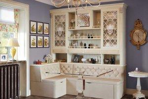 Кухонный угловой диван с буфетом