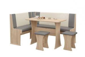 Обеденная группа РАНДЕВУ 7(сонома/серый) - Мебельная фабрика «MebStudia»