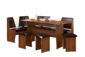 Обеденная группа Рандеву Макси(орех/темный шоколад) - Мебельная фабрика «MebStudia»