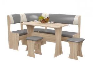 Обеденная группа  Рандеву (сонома/серый) - Мебельная фабрика «MebStudia»