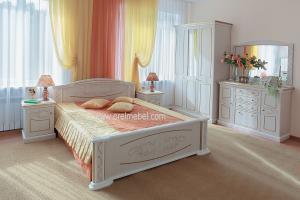 Спальня Вивальди (дуб Атланта+бронза) - Мебельная фабрика «Орёлмебель»