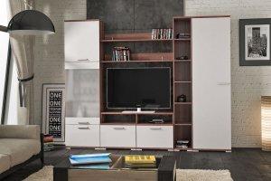 Модульная гостиная Вейла К-03 Орех Каннеро/Песочный матовый - Мебельная фабрика «7А»