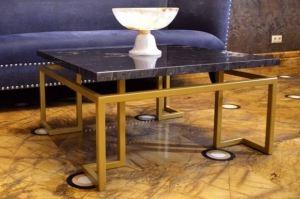 Стол из мрамора и металла - Мебельная фабрика «АЛЕТАН»