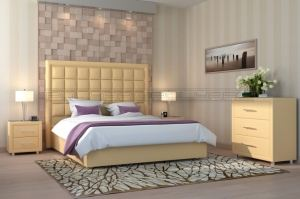 Мягкая кровать Квадро - Мебельная фабрика «Полярис»