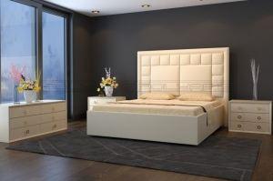 Мягкая кровать Квадро М - Мебельная фабрика «Полярис»