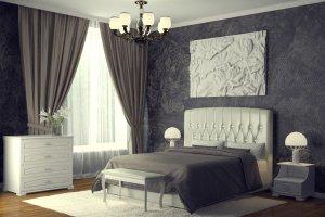 Мягкая кровать Шарм 3 белая - Мебельная фабрика «DM - DarinaMebel»