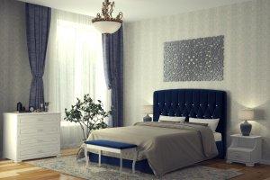 Мягкая кровать Шарм 3 - Мебельная фабрика «DM - DarinaMebel»