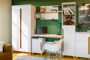 Набор мебели в детскую Сканди Белый снег - Мебельная фабрика «CALPE»