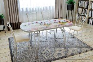 Стол раздвижной стеклянный с фотопечатью - Мебельная фабрика «ВВР»