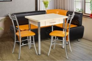 Обеденная группа стол Форест и стулья Цезарь - Мебельная фабрика «АТЛАС»