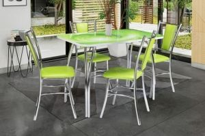 Обеденная группа стол Паук и стулья Цезарь - Мебельная фабрика «АТЛАС»