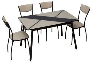 обеденная группа стол  Маэстро и стул Куба - Мебельная фабрика «Milio»