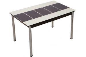 Обеденный стол Леон шоколадно/бежевый - Мебельная фабрика «Milio»