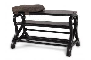 ОБУВНИЦА ДИАНА темно-КОРИЧНЕВЫЙ/ТКАНЬ - Мебельная фабрика «Мебелик»