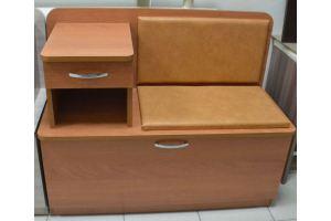 Обувница Мила, ольха, к/з рыжик - Мебельная фабрика «Миссия»