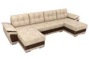 П-образный диван Нестор велюр - Мебельная фабрика «Мебелико»