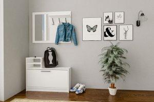 Прихожая Дженни 1 белый - Мебельная фабрика «CASE»