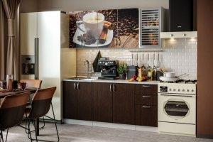 Прямая кухня с фотопечатью Контемп - Мебельная фабрика «Стиль»