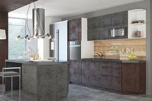 Прямая современная кухня Бронкс - Мебельная фабрика «ЛЕКО»
