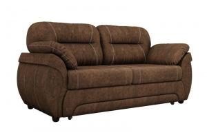 Прямой диван Бруклин велюр коричневый - Мебельная фабрика «Лига Диванов»