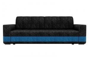 Прямой диван Честер велюр черный - Мебельная фабрика «Мебелико»