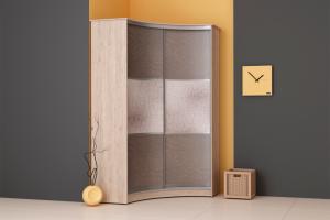 Радиусный шкаф-купе (плёнка ПВХ) - Мебельная фабрика «Континент»