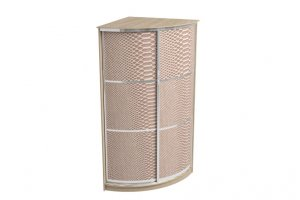 Радиусный шкаф-купе (кожа) - Мебельная фабрика «Континент»