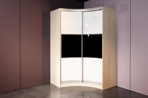 Радиусный шкаф-купе (пластик) - Мебельная фабрика «Континент»