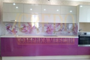 Розовая кухня Эмаль - Мебельная фабрика «Кредо»