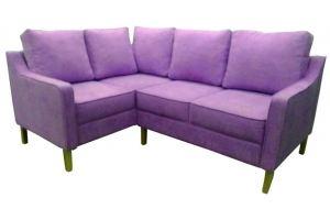 Розовый диван угловой 86 - Мебельная фабрика «Мега-Проект»