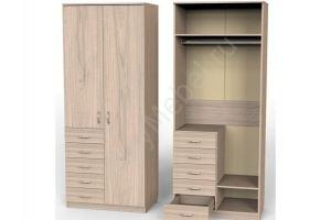 Шкаф Карат с 5ю малыми ящиками и штангой - Мебельная фабрика «Алтай-Командор»