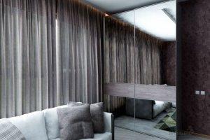 Шкаф-купе профиль Nova с зеркалом - Мебельная фабрика «Бобр»