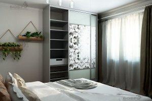 Шкаф-купе с декоративным зеркалом - Мебельная фабрика «Бобр»