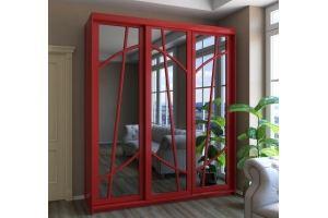 Шкаф-купе красный Вектор - Мебельная фабрика «ГЕЛИОН»
