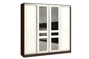 Шкаф-купе ВЕРСАЛЬ 4-х дверный (пленка/зеркало) - Мебельная фабрика «Континент»