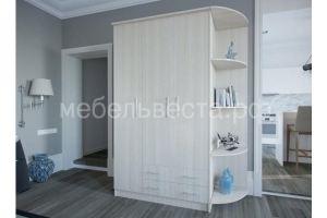 Шкаф распашной со штангой, полками, ящиками, радиусной полкой 1,2 - Мебельная фабрика «Веста»