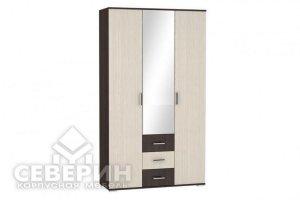 Шкаф распашной Белла 3-х створчатый - Мебельная фабрика «Северин»