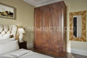 Шкаф распашной МДФ со штангой, полками и ящиками 1,2м - Мебельная фабрика «Веста»