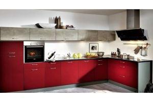 Современная красная кухня Country - Мебельная фабрика «Бобр»