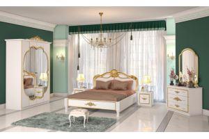 Спальный гарнитур АЛЬБА Белая Золото  - Мебельная фабрика «Альт-мастер»