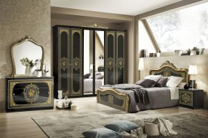 Спальный гарнитур Аличе с 6-и дверным шкафом - Мебельная фабрика «Меридиан»