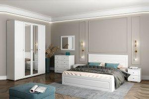 Спальный гарнитур Барселона белый - Мебельная фабрика «CASE»