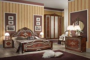 Спальный гарнитур Елена Итальянский орех - Мебельная фабрика «Меридиан»