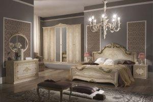 Спальный гарнитур Елена слоновая кость - Мебельная фабрика «Меридиан»
