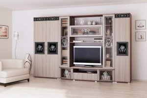 Стенка в гостиную Лотта 2 1 3 - Мебельная фабрика «ЛЕКО»