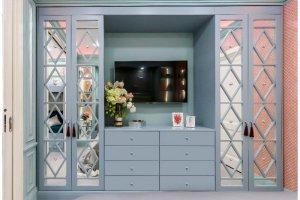 Стенка зеркальная со шпросами - Мебельная фабрика «Молчанов»